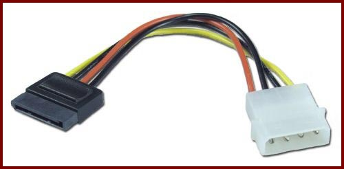 кабел sata към  molex (2.50лв) SATA Power Connector into an I